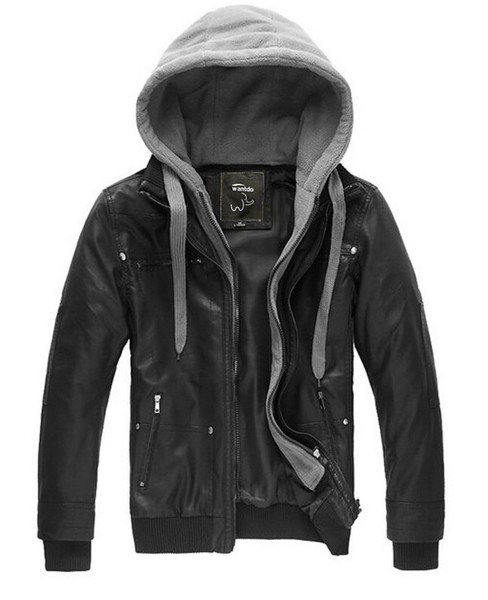 WantDo Mens Fashion Leather Jackets