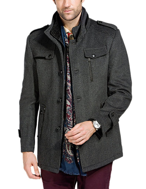 Wool Classic Pea Coat Winter Coat