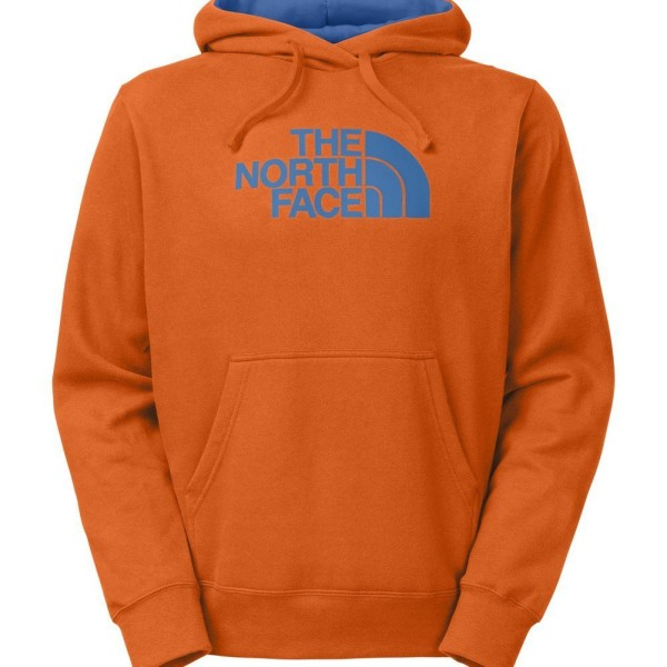 The north face hoodie in orange color