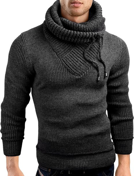 Grin&Bear Slim Fit shawl collar knit sweatshirt cardigan ...