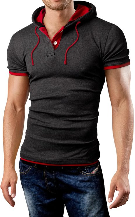 Mens Sleeveless Hoodie Grin&Bear Polo Shirt - Mens Urban Clothing