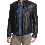 Kenneth Cole Faux-Leather Urban Jacket