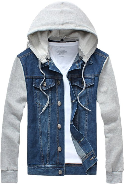 Jean Jacket Hoodie - Mens Urban clothing