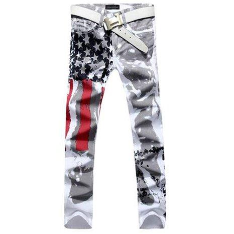 jeansian Fashion Printing Casual Pants