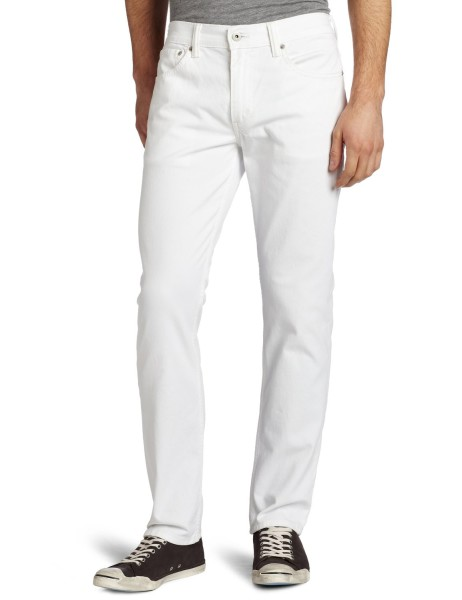 Levis Mens 511 Slim Fit Jean white
