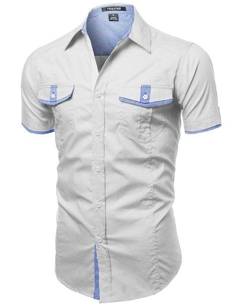 Youstar Mens Short Sleeve Button Shirts