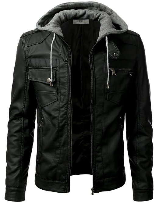 IDARBI Urban Knight Jacket with Detachable Hood