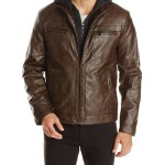 Kenneth Cole REACTION Marble Faux-Leather Jacket