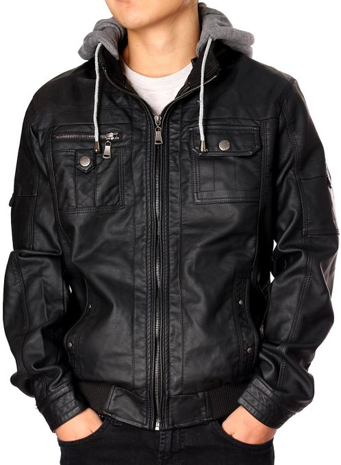 Mens Faux Leather Shirt