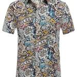 SSLR Summer Floral Shirts Men Short Sleeve