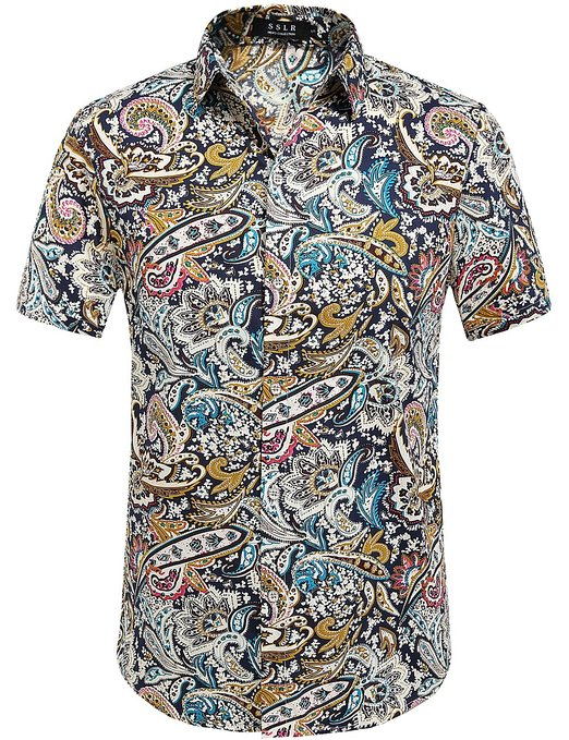 3d88330db SSLR Summer Floral Shirts Men Short Sleeve - Mens Urban Clothing