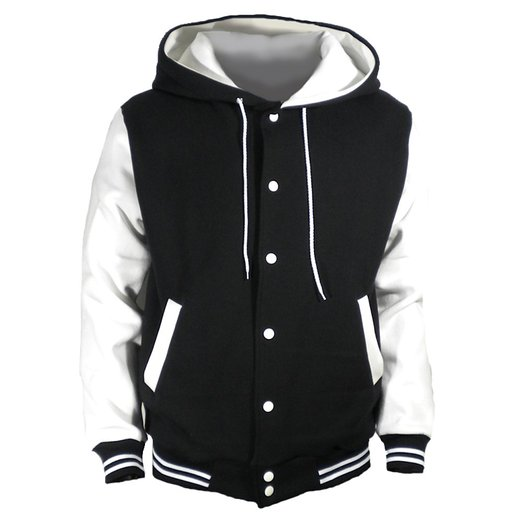 U World Mens Varsity Jacket White