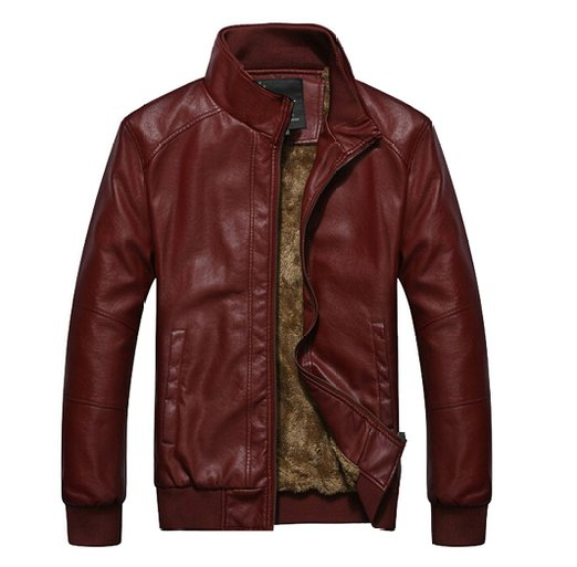 WenVen Winter Fashion Urban Leather Jackets